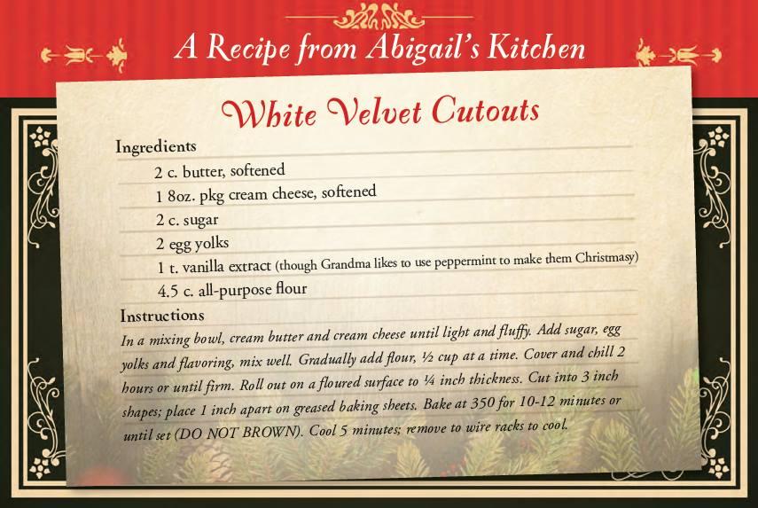 Abigail's white velvet