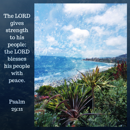 The LORD gives strength to his people;