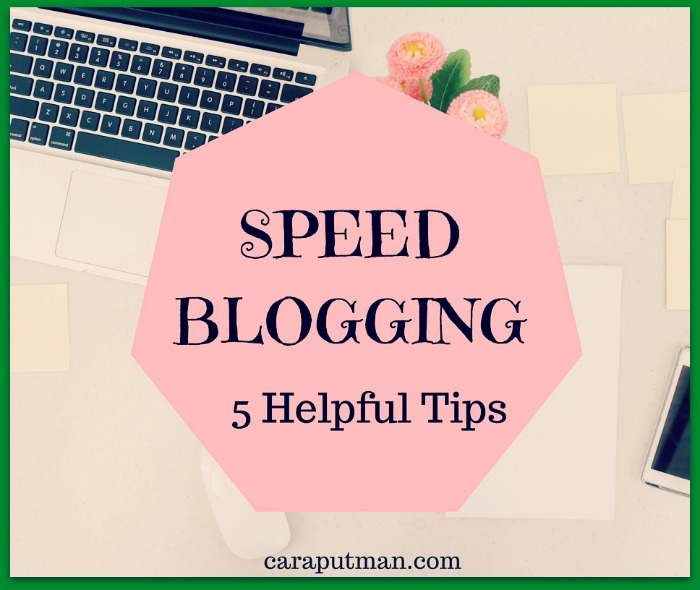 SPEED BLOGGING